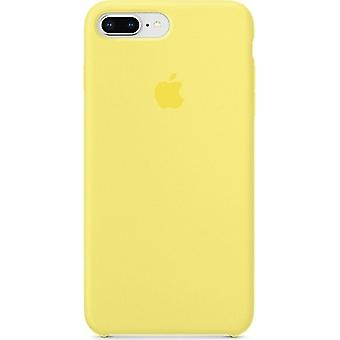 Original Packed Apple Silicone Microfiber Cover Case for iPhone 8+ Plus / 7+ - Lemonade Yellow