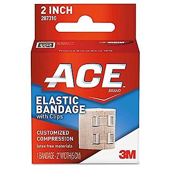 Ace elastic bandage with clips, 2 inch, customized compression, 1 ea