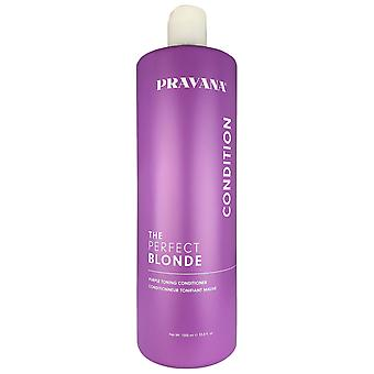 Pravana de perfecte blonde paars toning hair conditioner 33,8 oz 100% veganistisch glutenvrij