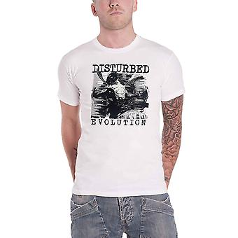 Disturbed T Shirt Evolution  Sketch Band Logo new Official Mens White