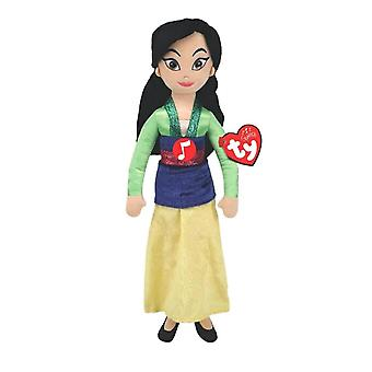 Disney Princess Mulan TY Beanie Medium Plush Toy with Sound