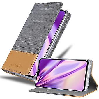 Cadorabo sag for Honor 8X sag dække - mobiltelefon sag med magnetisk lås, stå funktion og kortrum - Sag Cover Beskyttende sag bog Foldestil