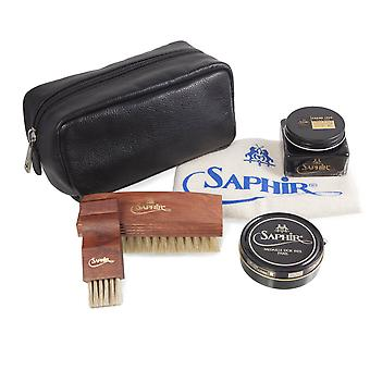 Saphir Medaille D'tai 1925 Luxury Shoe Care Kit + Nahkalaukku Setti A