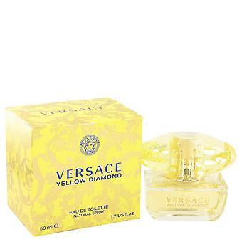Versace keltainen timantti eau de toilette spray by versace 502620 50 ml