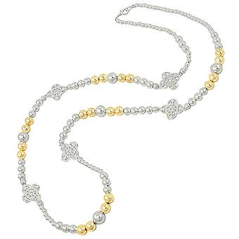 Eternal Collection Chakra Two Tone Long Beaded Statement Necklace