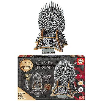 Educa Game of Thrones 3D Monument Puzzle Wooden Pussel