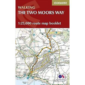 Two Moors Way Map Booklet - 1 -25 -000 OS Route Mapping by Sue Viccars
