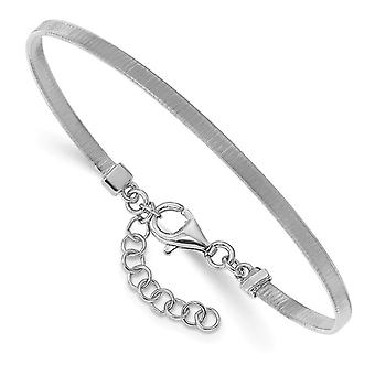 2.85mm 925 Sterling Silver Textured With 1inch Ext Bracelet 6 Inch - 4.8 Grams