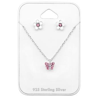 Butterfly - 925 Sterling Silver Sets - W33934x