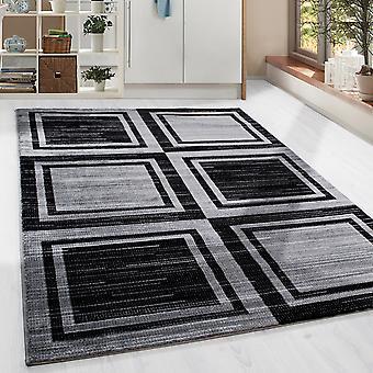Conception Shortflor Rug Tile Design pour Living Room Carpet Black Grey Melted