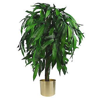 100cm grand mangue artificiel arbre plante avec planteur métal