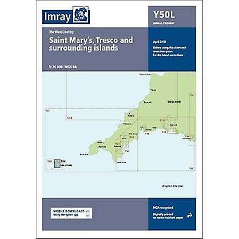 Imray Chart Y50 Laminated - Laminated Y50 Saint Mary's - Tresco and Su