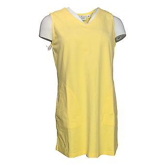 Linea por Louis Dell'Olio Women's Top SL Knit V-Neck Tunic Tank Yellow A290991