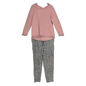 Cuddl Duds Women's Pajama Set Regular Fleecewear Stretch Pink A297368