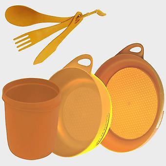 New Sea To Summit Delta Camp Set (Bowl, Plate, Mug, Cutlery) Orange