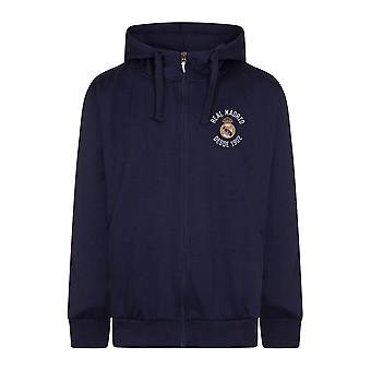 Real Madrid Mens Hoody Zip Fleece Cadeau officiel de football