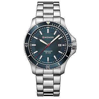 Wenger Seaforce Quartz Blue Dial Stainless Steel Bracelet Strap Men's Watch 01.0641.129 RRP £179