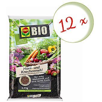 Sparset: 12 x COMPO BIO róg i mąka kostna, 2,5 kg