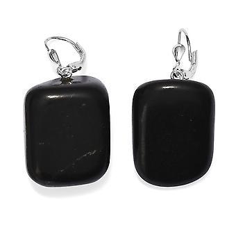 TJC Drop Dangle Shungite Boucles d'oreilles pour femmes Sterling Argent, 99,24 Ct