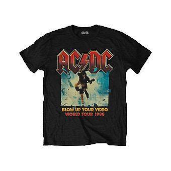 AC / DC Kids T-paita räjäyttää Video Band Logo uusi virallinen musta ikä 1-12 v