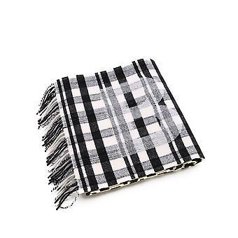 Balenciaga 588245420b01078re Men's White/black Wool Scarf
