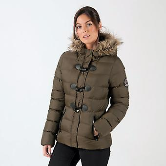 Women's Brave Soul Wizard Padded Parka Jacket in Green