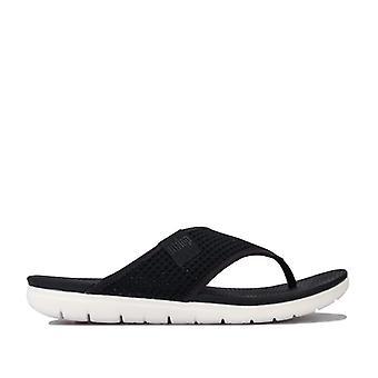Women's Fit Flop Airmesh Toe Thong Sandals in Black
