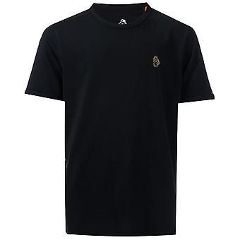 Boy's Luke 1977 Junior Trouser Snake Crew T-Shirt in Black