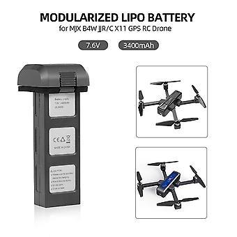 7.6V 3400mah 25.84wh lipo batterij voor mjx bugs 4w b4w d88 ex3 hs550 jjrc x11 opvouwbare quadcopter reserveonderdelen drone batterij