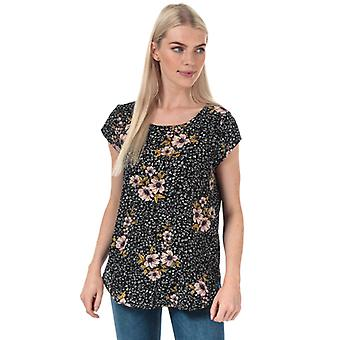 Women's Only Nova Lux Short Sleeve Top in Black