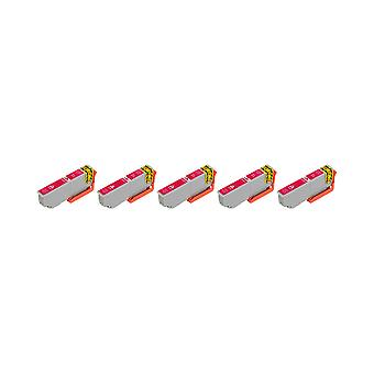 RudyTwos 5x Replacement for Epson 33XL(Orange) Ink Unit Magenta Compatible with Expression Premium XP-530, XP-540, XP-630, XP-635, XP-640, XP-645, XP-830, XP-900