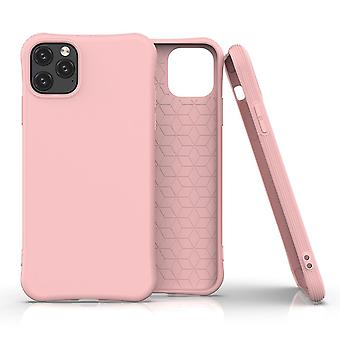 For iPhone 11 Pro Case Solid Slim Case Protective Cover Pink