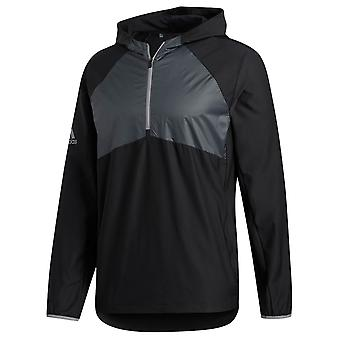 adidas Golf Mens 2020 Packable Hooded Zip Stretch Wind Jacket