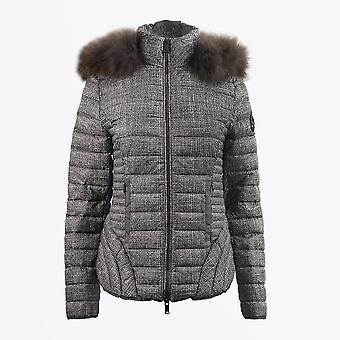 Eva Kayan - Manteau de chèque à fourrure courte - Beige