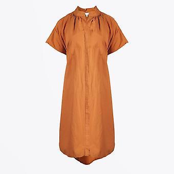 Humilité - Robe à cordon de coton - Orange