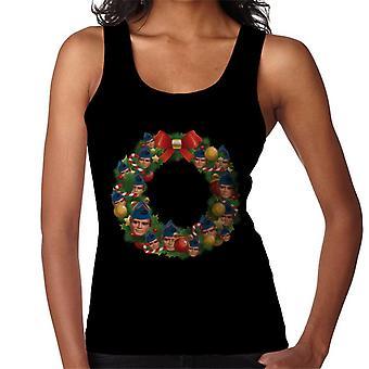 Thunderbirds Christmas Wreath Multiface Gordon Women's Vest