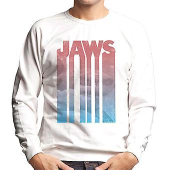 Jaws Shark Shadow Text Men's Sweatshirt