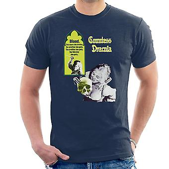 Hammer Horror films gravin Dracula bloed poster mannen ' s T-shirt