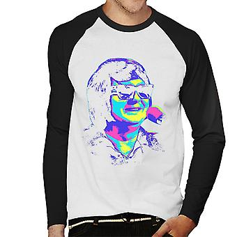 TV Times Roy Orbison Zonnebrillen Pop Art Gestileerde Men's Baseball Long Sleeved T-shirt