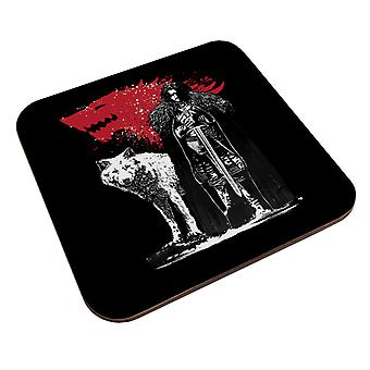 Game Of Thrones The King And The White Wolf Coaster