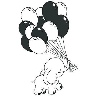 Ballons d'éléphant de bébé de tampon de caoutchouc d'Aladine