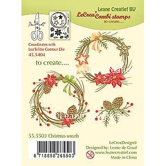 لين Creatief عيد الميلاد اكليل من الطوابع واضحة