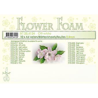 Leane Creatief Flower Foam Sheets A4 Off White