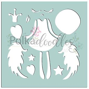 Polkodoyles Creative Angel 6x6 Pouces Pochoir