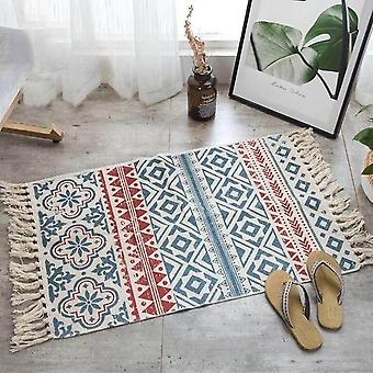 Hand Woven Carpet For Living Room Bedroom Rug - Geometric Floor Mat For Home Decor