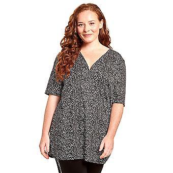 Rösch 1204627-16077 Women's Curve Black Dots Loungewear Top