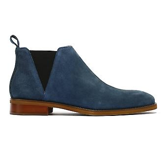 TOWER Londres Chelsea Mens Navy Suede Bottes