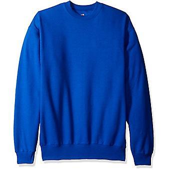 Hanes Men's Ecosmart Fleece Sweatshirt, Deep Royal, Medium