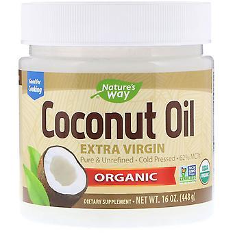 Nature-apos;s Way, Huile de noix de coco biologique, Extra Virgin, 16 oz (448 g)