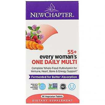 New Chapter, 55+ Every Woman's One Daily Multi, 96 Vegetarian Tablets